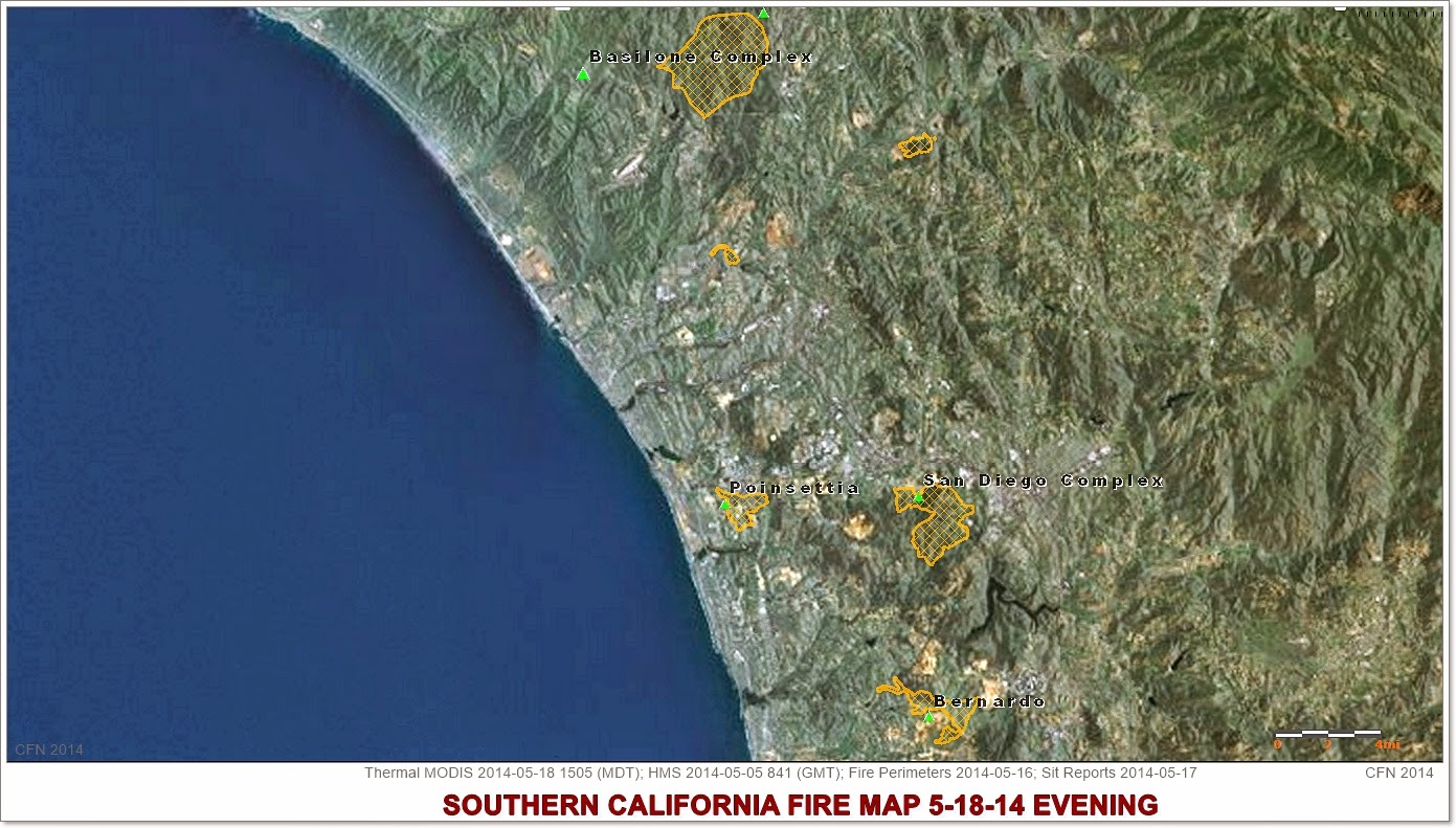 Southern California Wildfires Aerial Map 5-18-14