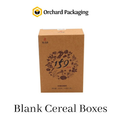 Blank Cereal Boxes