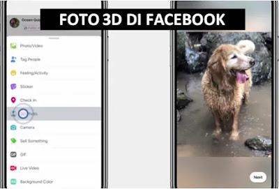 Facebook melakukan upgrade besar ke Aplikasi mereka dengan memperkenalkan fitur luar bias Cara Membuat Foto 3D Di Facebook
