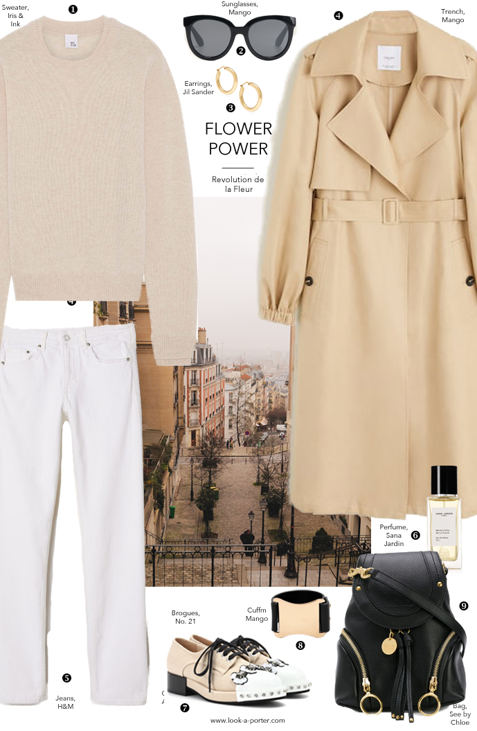 Styling a wardrobe essential statement classic camel linen trench coat with cashmere sweater and white jeans with See by Chloe, H&M, Mango, Sana Jardin, No 21 for  www.look-a-porter.com fashion blog, daily outfit ideas for all budgets, designer finds, best buys, wardrobe essentials