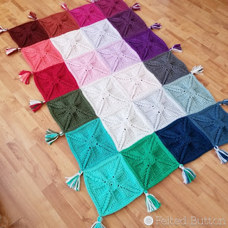 Asanas Blanket free crochet pattern by Susan Carlson of Felted Button