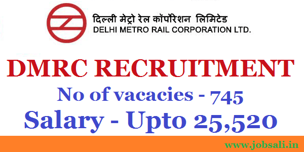 Noida metro Recruitment, metro rail recruitment, dmrc online application form