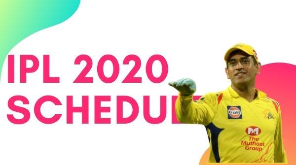 Download VIVO IPL 2020 Schedule, Team, Venue, Time Table