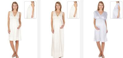 Vestidos premamá de seda