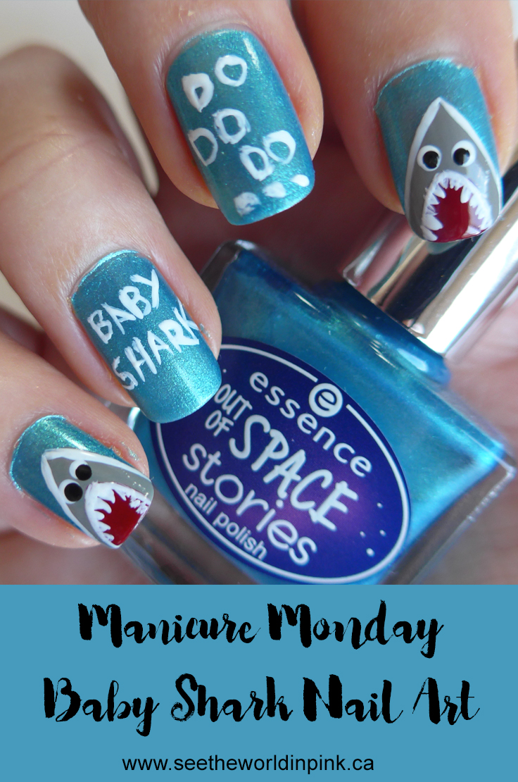 Manicure Monday - Baby Shark Nail Art