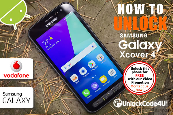 Factory Unlock Code Samsung Galaxy Xcover 4 from Vodafone