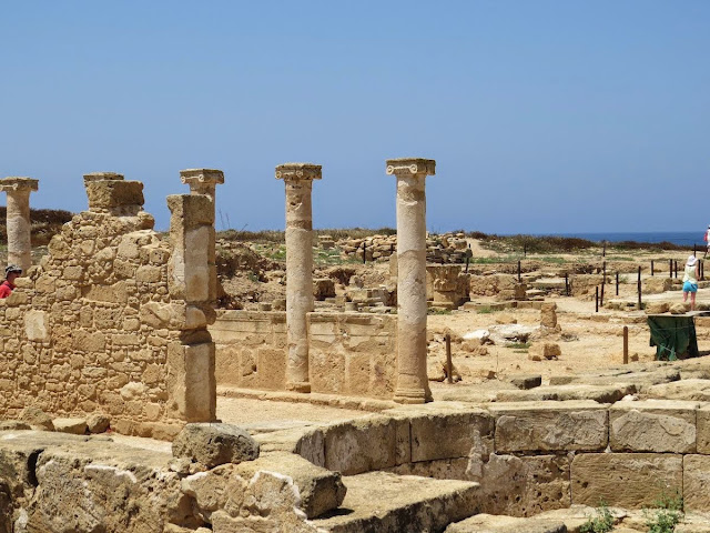 Cyprus Road Trip Itinerary: Columns at Paphos Archaeological Park