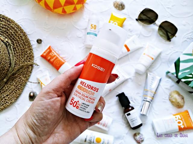 Heliokos Color  Kosei Protección Solar Facial antiaging antienvejecimiento sunprotect beauty salud belleza antiedad manchas