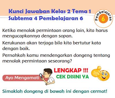 Kunci Jawaban Kelas 2 Tema 1 Subtema 4 Pembelajaran 6 www.simplenews.me