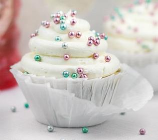 Cupcake de espumante para o Reveillon