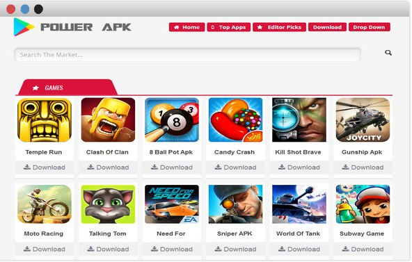 Power APK blogger templates themes for android applications 2017