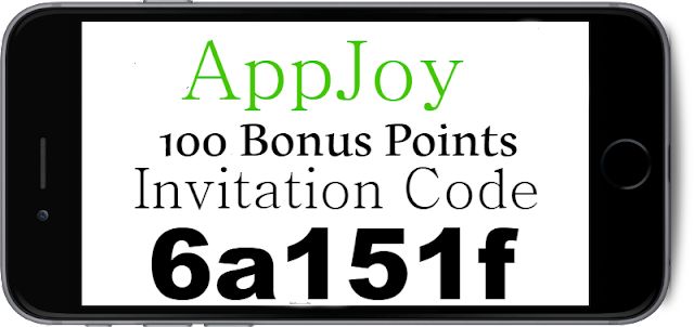 100 Points Bonus AppJoy Invitation Code, Referral Code and Sign Up Bonus 2018-2019