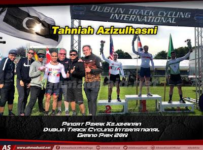 Tahniah! Mohd Azizulhasni Awang sekali lagi mengharumkan nama Malaysia di pentas dunia apabila memperoleh pingat perak acara sprint dalam kejohanan Berbasikal Trek Antarabangsa Dublin 2019
