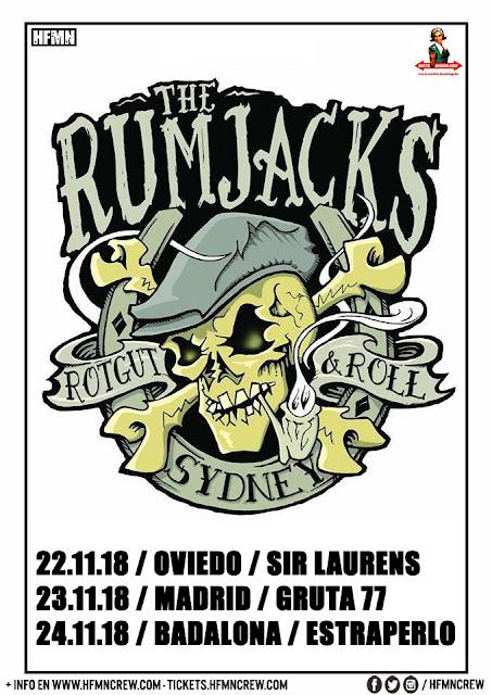 The Rumjacks, Concierto, España, Oviedo, Madrid, Badalona