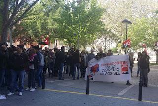 El viernes 6 de mayo, los trabajadores y trabajadoras de la empresa Qualytel Arvato Zaragoza fueron llamados a una jornada de paros