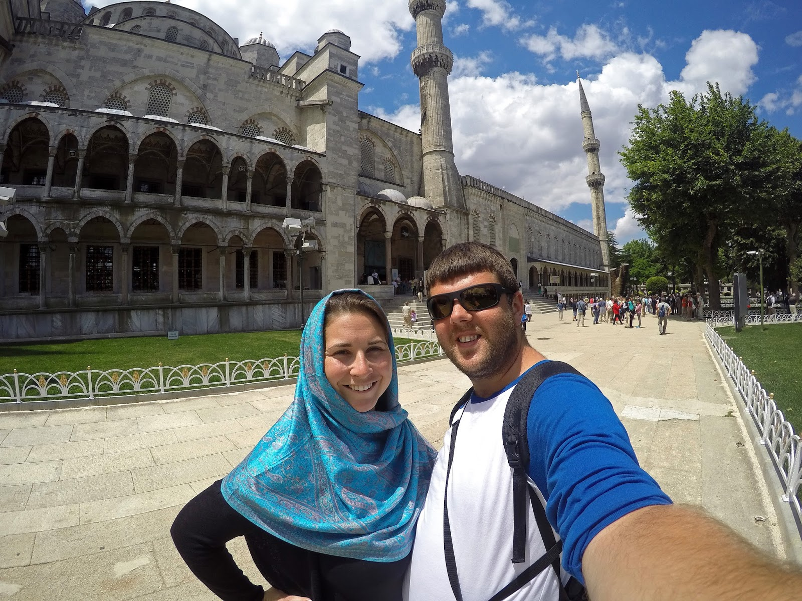 Couple at Blue Mosque Istanbul