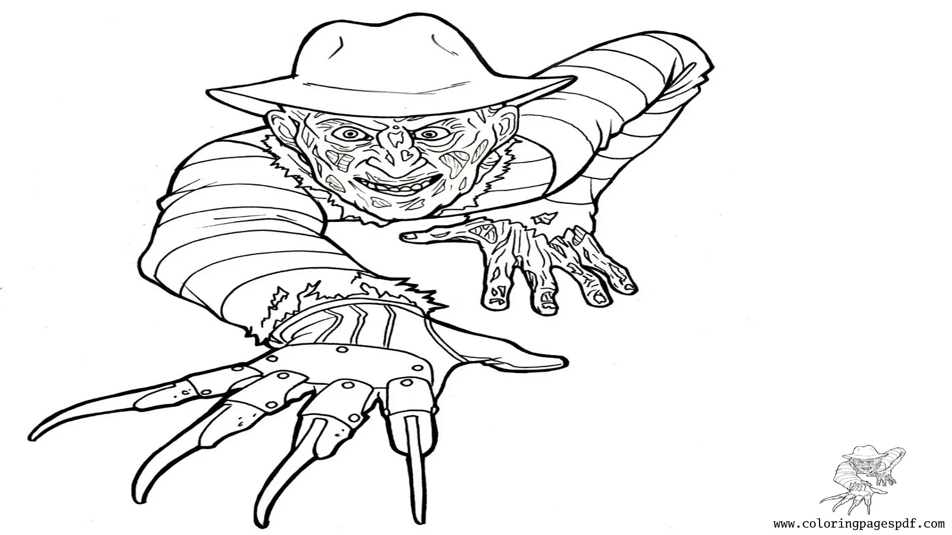 Coloring Page Of Freddy Krueger