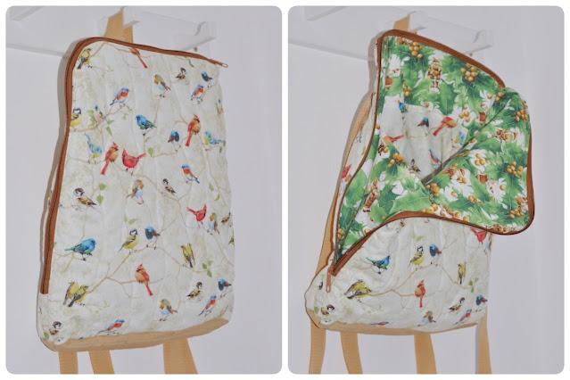 plecak tkanina bawełniana w ptaszki