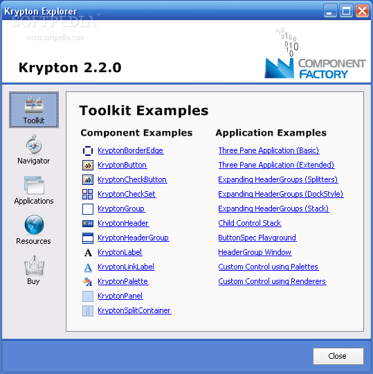 Download Software: Krypton Toolkit by Component Factory