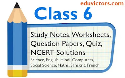 Class 6 Study Material, Worksheets, NCERT Answers, Sample Question Papers Hindi, Science, Maths, Social Science, Computers, French, English Grammar