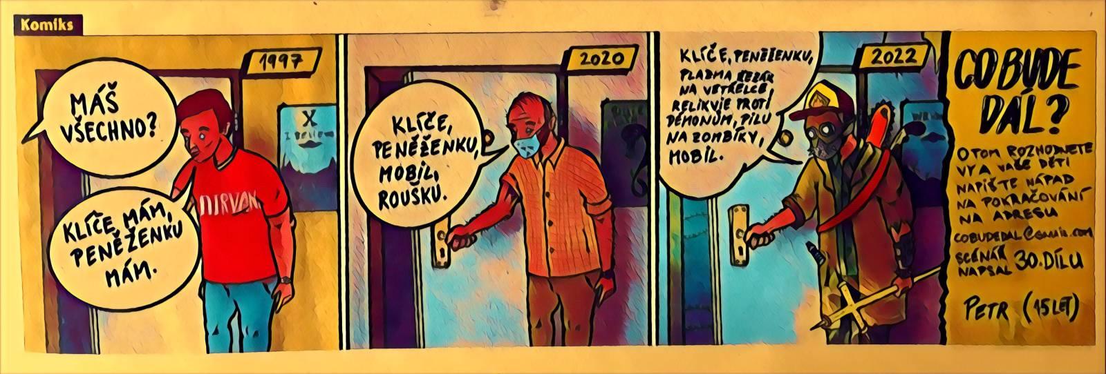 Komiks z novin Metro