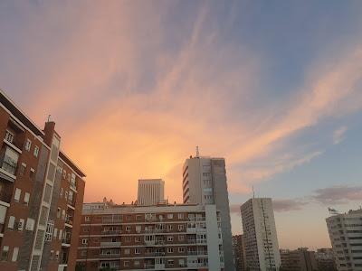 El cielo de Madrid desde el confinamiento del coronavirus