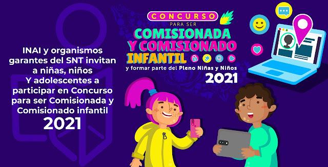 Convocan al Concurso para ser Comisionada y Comisionado Infantil 2021