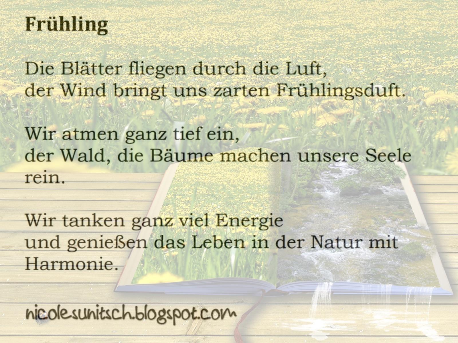 Gedichte Von Nicole Sunitsch Autorin Gedicht Frühling