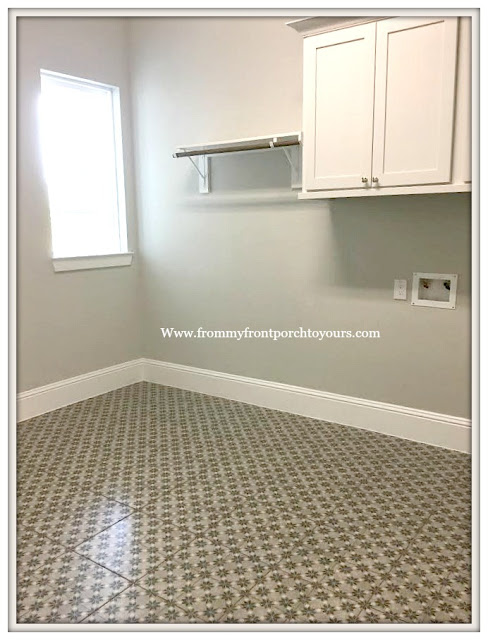 New Construction-Open House-Southern Style-Home-Laundry Room-Vintage Tile-From My Front Porch To Yours