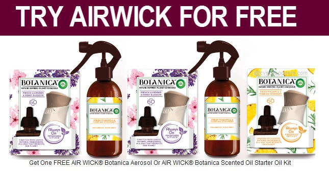 FREE Air Wick Botanica Aerosol or Starter Kit
