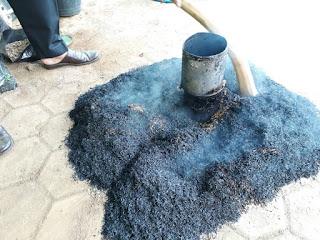 pembuatan arang sekam