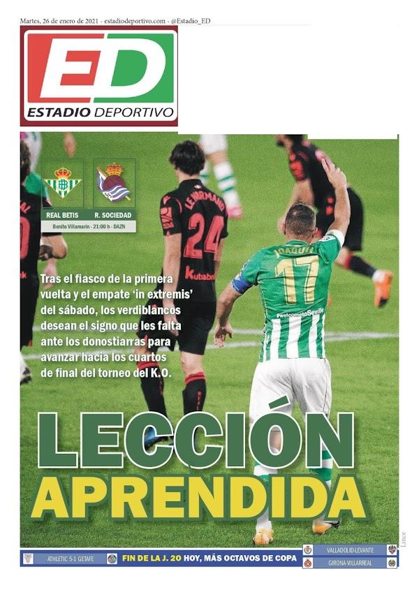 """Betis, Estadio Deportivo: """"Lección aprendida"""""""