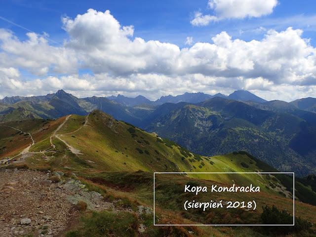 Kopa Kondracka z widokiem na Tatry Wysokie