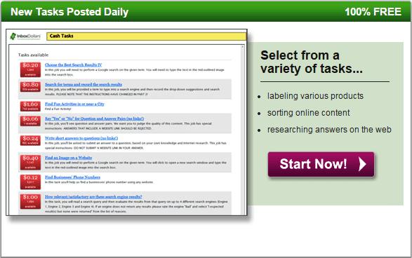 Complete micro tasks to earn money in Inbox dollars