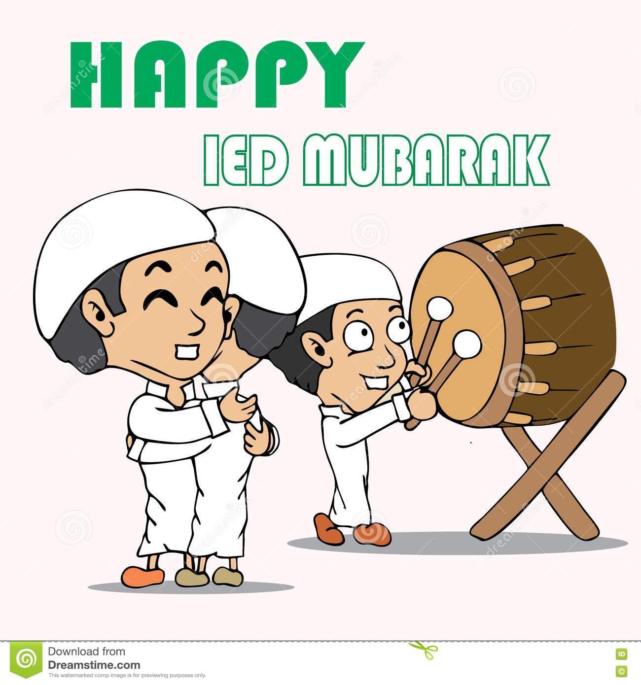 Gambar Kartun Muslimah Idul Fitri Top Gambar