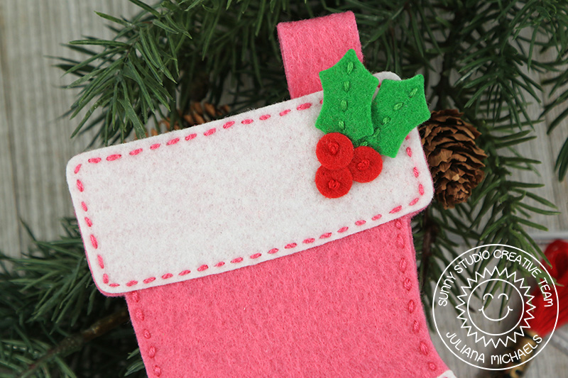 sunny studio stamps santas stocking dies fancy frames felt stitched christmas ornaments by juliana michaels - Michaels Christmas Stockings