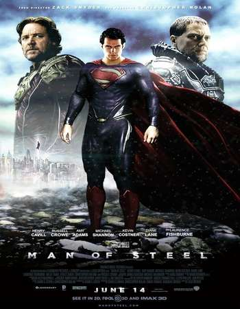 Poster Of Man of Steel 2013 Hindi Dual Audio 600MB BRRip 720p ESubs HEVC Free Download Watch Online downloadhub.in