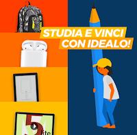 Logo ''Studia e vinci con Idealo'': gratis vinci zaino scuola,auricolari, e-book e tablet