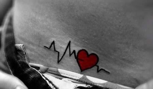 hayat çizgisi kalp dövmesi life line heart tattoo