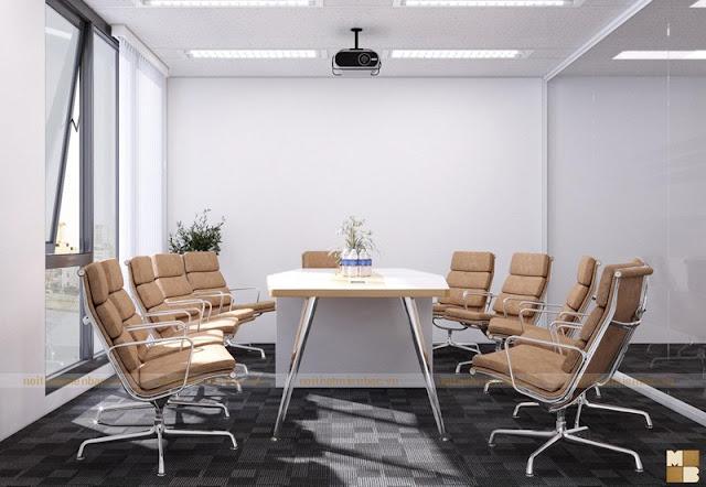 Đối với không gian nội thất văn phòng giám đốc bạn nên lựa chọn những bộ bàn ghế tạo đẳng cấp cho vị lãnh đạo bằng những chất liệu đơn giản nhưng sang trọng
