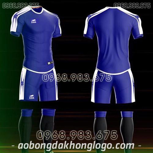 Áo bóng đá ko logo Zuka Basix màu xanh dương