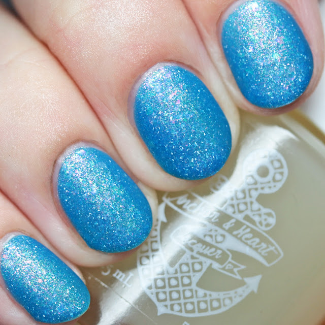 Anchor & Heart Lacquer Nouveau Cirque with Sea Glass Matte Top Coat
