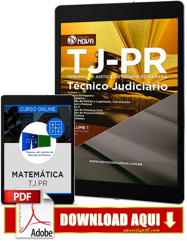 Apostila TJ PR 2017 PDF Download Técnico Judiciário