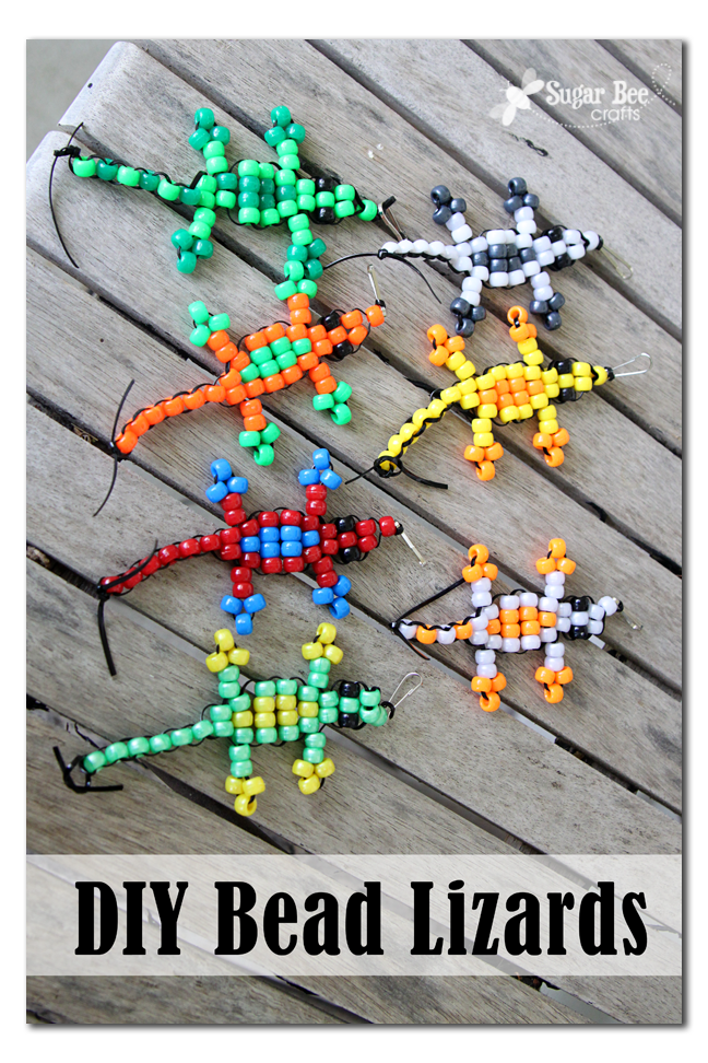 Pony Bead Lizard Tutorial | How to Make Animals out of ...