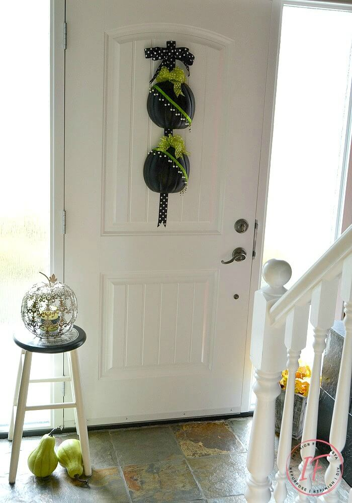 Untraditional Pumpkin Door Hanger