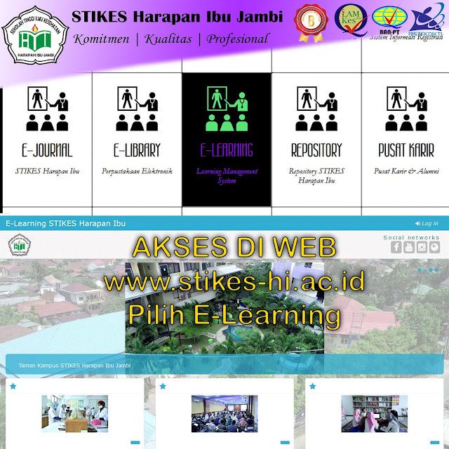 Workshop E-learning kepada Dosen STIKES Harapan Ibu Jambi