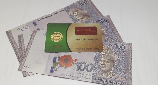1 Dinar dan 3 keping RM 100