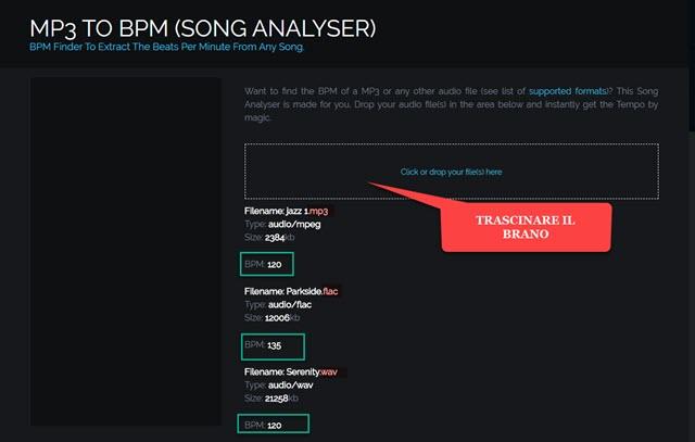 calcolare il bpm di brani musicali con un tool online