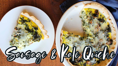 Thumbnail for sausage and kale quiche video