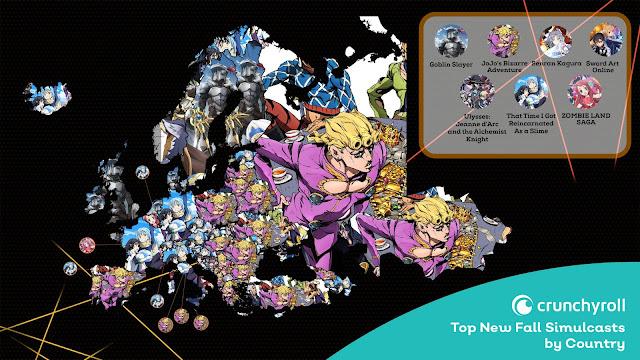 Najpopularniejsze jesienne anime w Europie